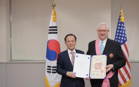 Head of US think tank CSIS awarded S. Korea's highest diplomatic medal