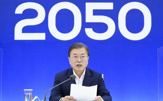 In climate summit, Moon says S. Korea to set higher 2030 greenhouse gas emission reduction goal
