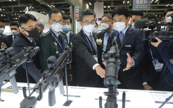 S. Korea ranks 10th in world arms exports: report