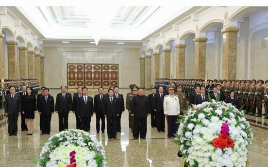 NK leader visits mausoleum to mark late father's death anniversary