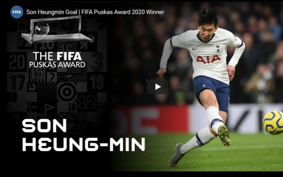 Son Heung-min wins FIFA's best goal award