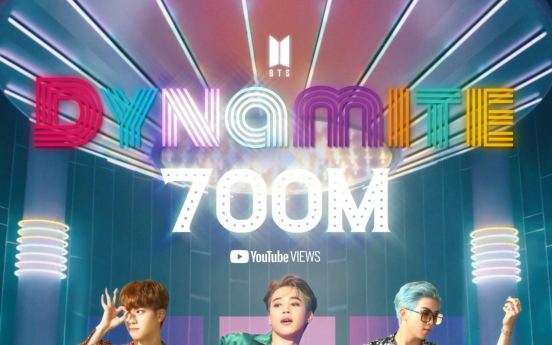 'Dynamite' becomes 6th BTS music video to hit 700m YouTube views