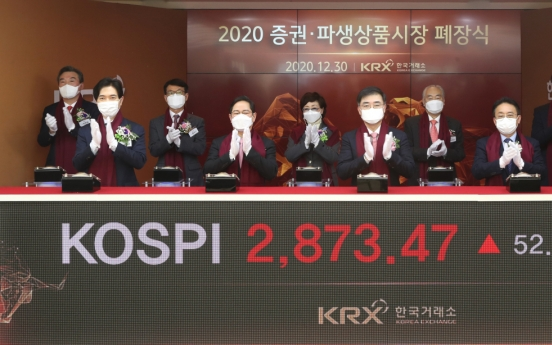 Kospi hits another fresh high on final trading session of 2020