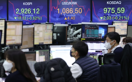 Seoul stocks open lower on virus concerns, profit-taking