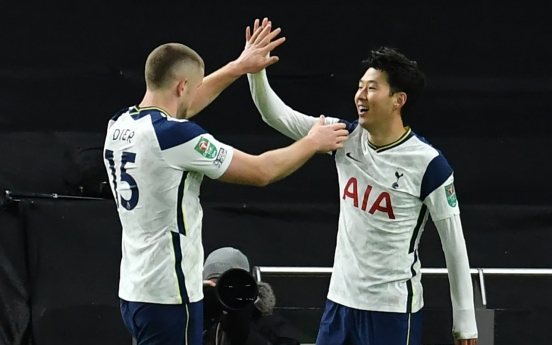 Son Heung-min scores in 2nd straight match, sends Tottenham into League Cup final