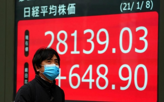 Asian shares climb on Wall Street rally, stimulus hopes