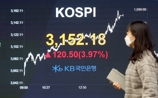 Kospi logs record rise in first trading week of 2021