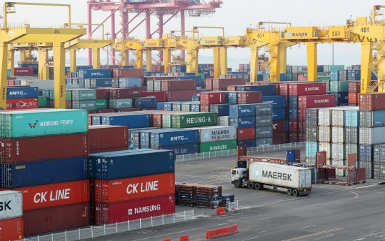S. Korea's exports fall 15% in first 10 days of Jan.