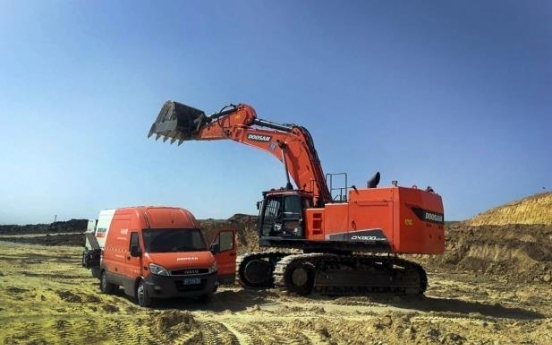 Doosan Infracore's excavator sales up 22% on-year in 2020 in China