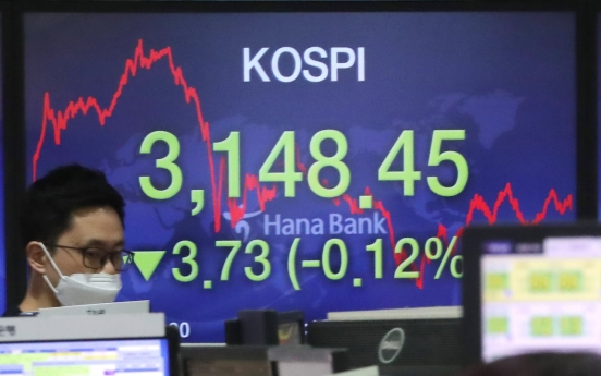 Seoul stocks slip on institutional profit-taking