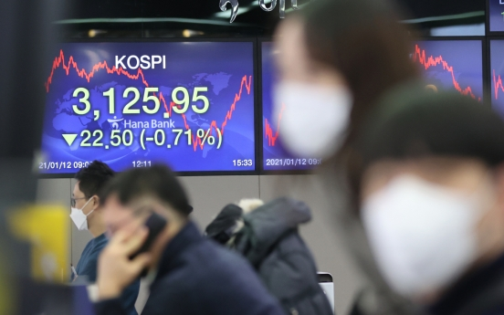 Seoul stocks down for 2nd day on profit-taking