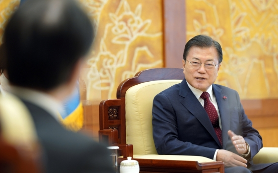 President Moon calls for 'future-oriented' relations with Japan
