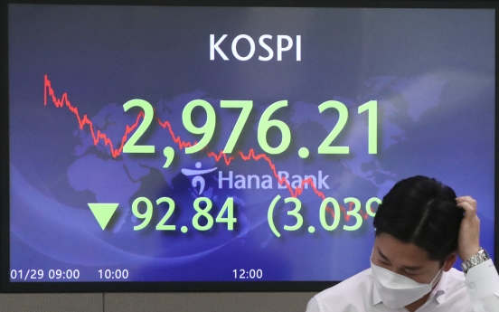 Stock markets decline for four straight sessions on foreign sellout