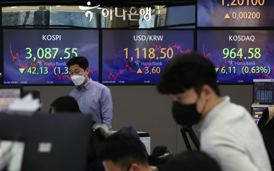 Seoul stocks snap 3-day winning streak on profit-taking
