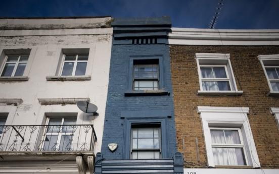 폭이 겨우 170㎝…14억원에 매물로 나온 런던에서 가장 얇은 집