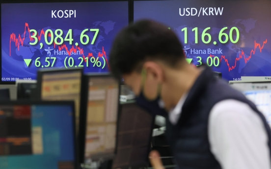 Seoul stocks down for 2nd day ahead of options expiration day
