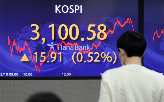 Kospi returns above 3,100 points ahead of Lunar New Year