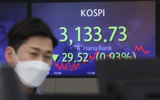 Seoul stocks snap 3-day winning streak on foreign and institutional selling