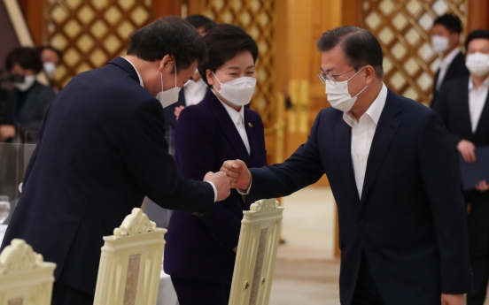 Moon says govt. open to special 'consolatory money' for Korean people over coronavirus damages