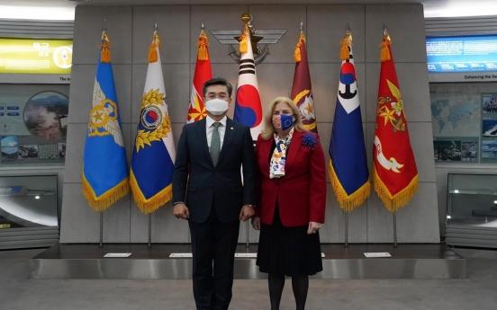 Defense chief, EU ambassador vow to boost security ties, defense exchanges
