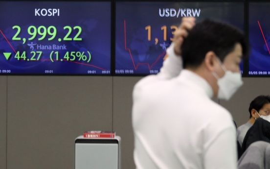 Seoul stocks open lower on inflation concerns