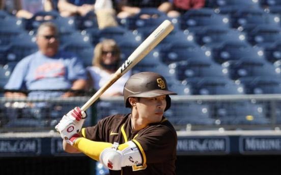 Slumping at plate, Padres' Kim Ha-seong combines for 2 double plays at shortstop