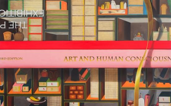 Artist Kim Sung-ho presents contemporary 'chaekgeori' depicting desires