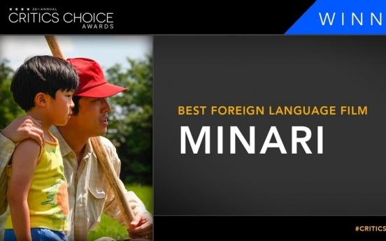 'Minari' wins best foreign language film at Critics Choice Awards
