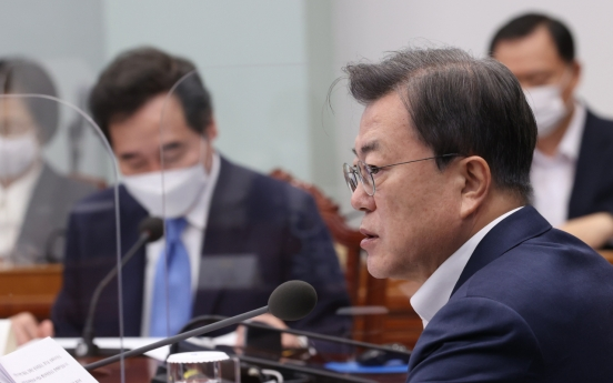 Moon urges prosecution-police cooperation in probe of land speculation scandal