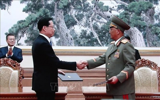 Defense ministry calls for N. Korea's 'flexible' stance, full implementation of military pact