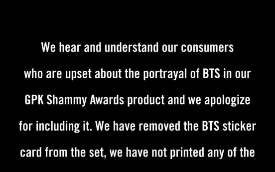 US trading card company under fire for violent caricature of BTS