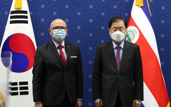 FM Chung holds talks with Costa Rican, Guatemalan counterparts on bilateral cooperation