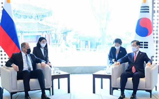 Top diplomats of S. Korea, Russia hold talks on bilateral ties, peninsula situation