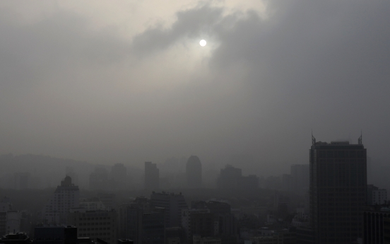 [Photo News] Seoul turns gray in yellow dust storm