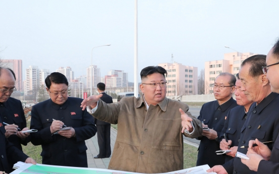 NK leader visits construction site for riverside flats again in week