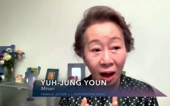 [Newsmaker] Youn Yuh-jung wins SAG award for best female actor in supporting role