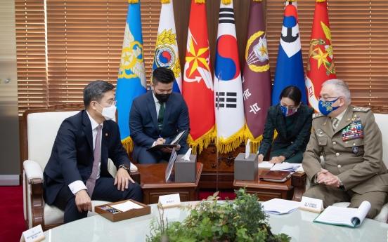 S. Korean, EU defense chiefs affirm cooperation on NK