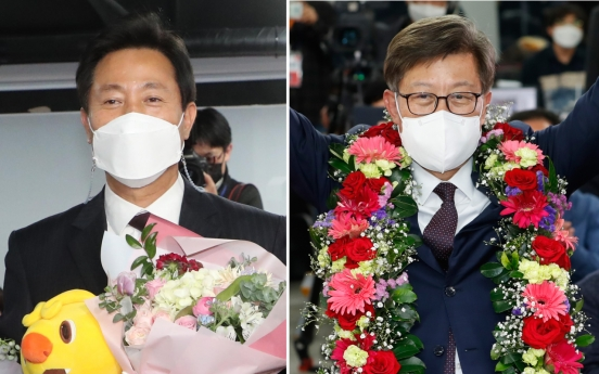 Ruling party suffers mayoral election debacle in Seoul, Busan