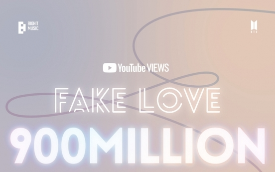 'Fake Love' becomes 4th BTS video to top 900m views