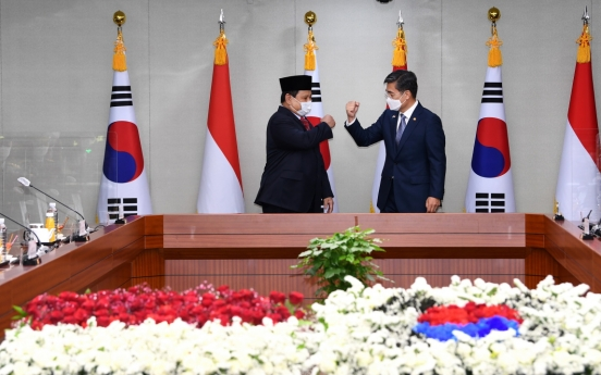 Defense chiefs of S. Korea, Indonesia affirm fighter deal cooperation