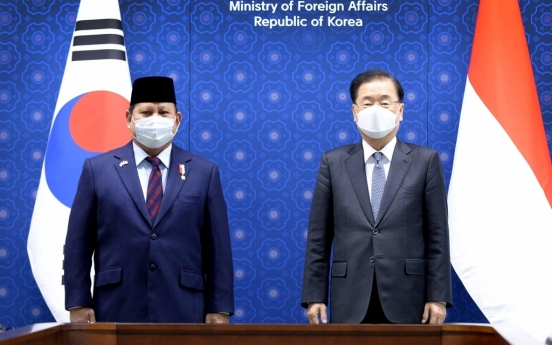 FM Chung, Indonesia defense chief agree to advance cooperation in joint fighter jet project