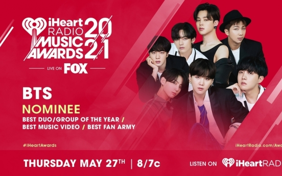[Today's K-pop] BTS nominated for 3 iHeartRadio awards