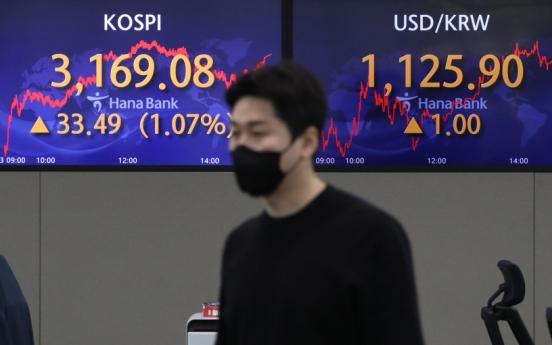 Seoul stocks up for 2nd day on earnings hopes