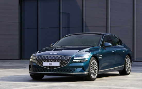 Hyundai Motor Group unveils EV variant of G80 for first time at Shanghai motor show