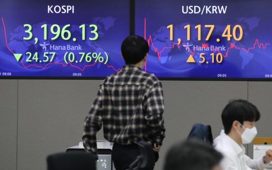 Seoul stocks open lower on valuation pressure