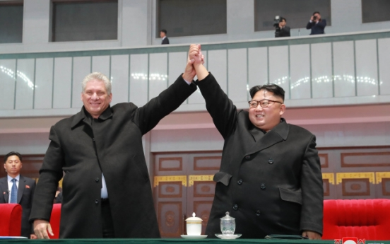NK leader stresses 'special' relations with Cuba in another congratulatory message to new ruling party chief