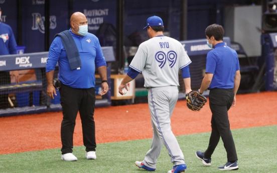 Blue Jays' Ryu Hyun-jin placed on injured list following minor gluteal strain