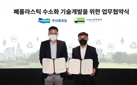Doosan Heavy to extract hydrogen from plastic waste