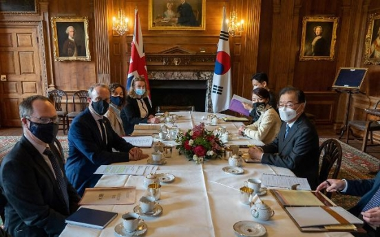 Top diplomats of S. Korea, Britain agree on cooperation on vaccine access, climate change