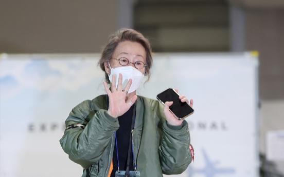 Oscar-winning Youn Yuh-jung makes triumphant return to S. Korea